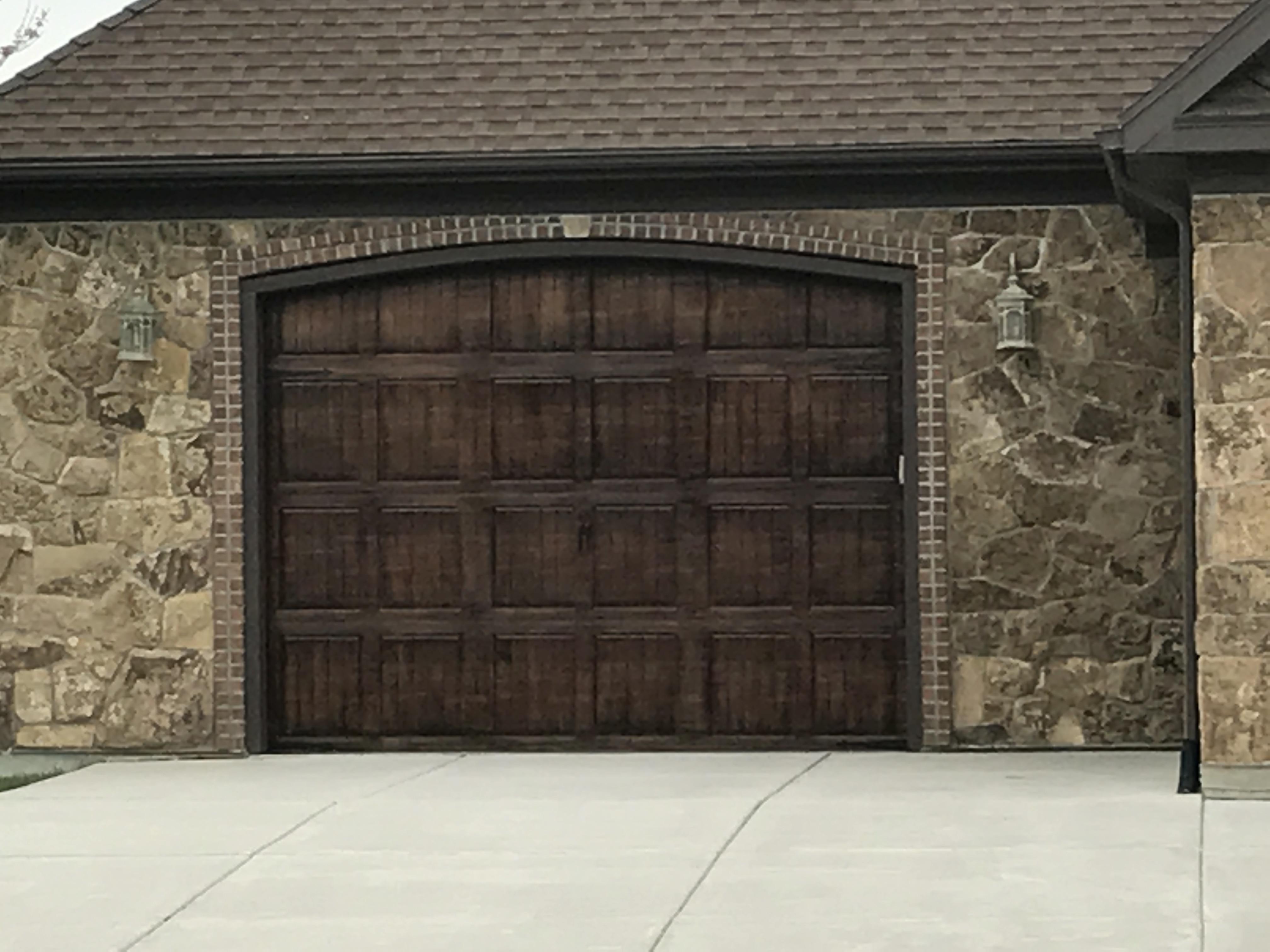 brown luxury garage doors