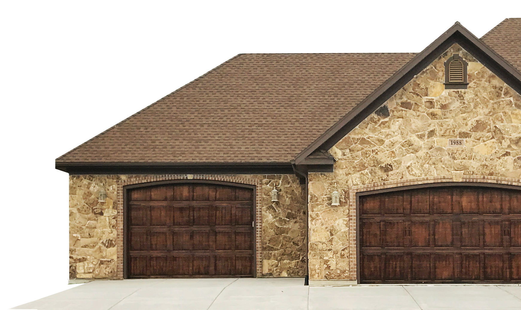 house with two garages.